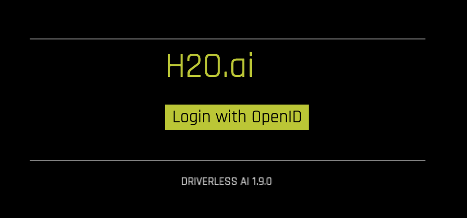 OpenID Connect Authentication Example — Using Driverless AI