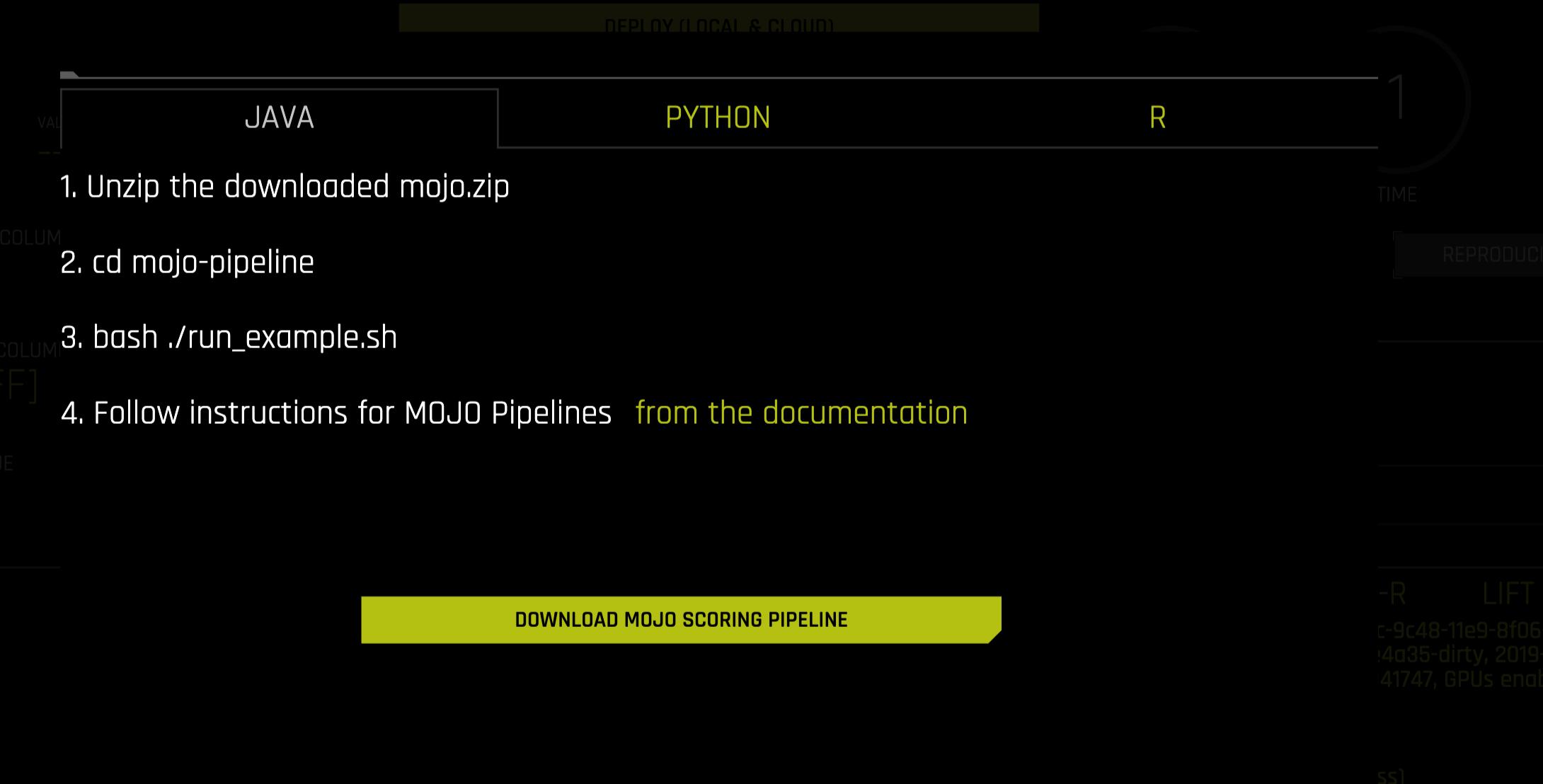 Driverless AI MOJO Scoring Pipeline - Java runtime — Using