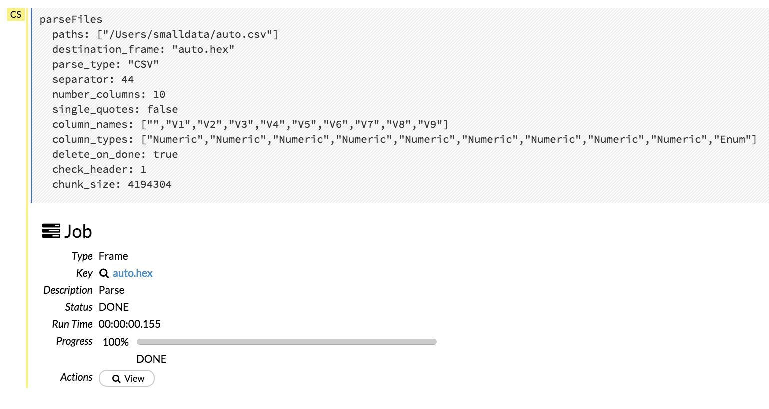 Using Flow - H2O's Web UI — H2O 3 26 0 2 documentation