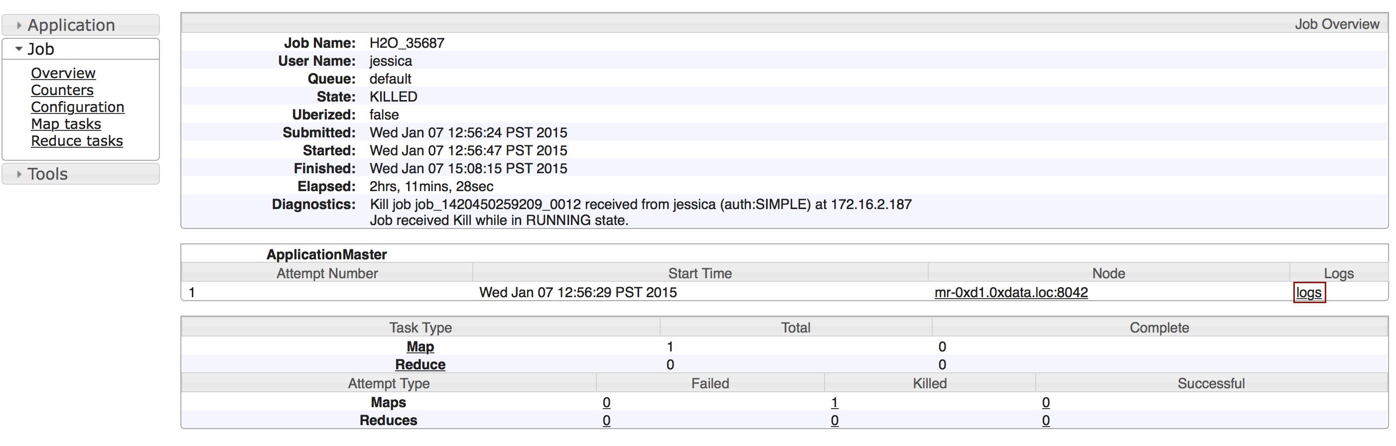 Downloading Logs — H2O 3 26 0 2 documentation