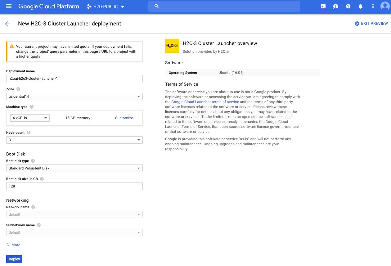 Install H2O on the Google Cloud Platform Offering — H2O 3 26